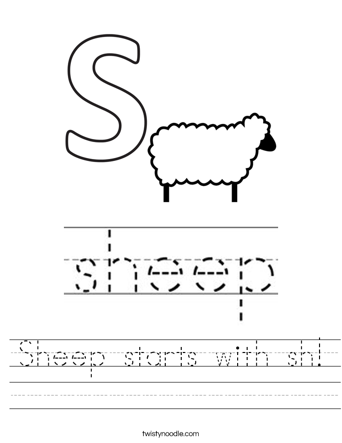 Sheep starts with sh! Worksheet