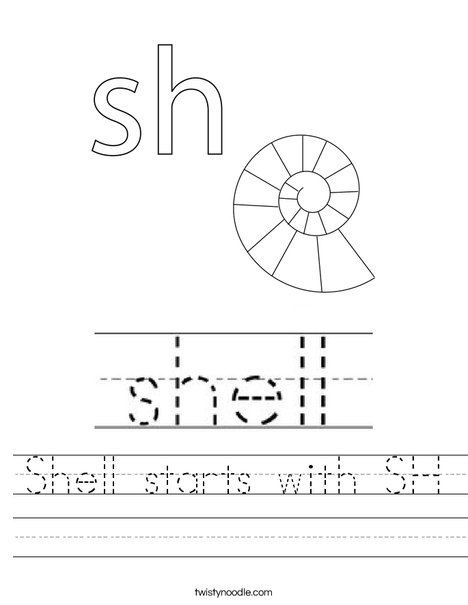 Shell starts with SH Worksheet