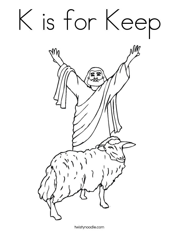 K is for Keep Coloring Page