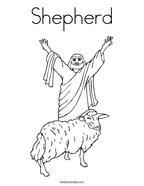 Shepherd Coloring Page