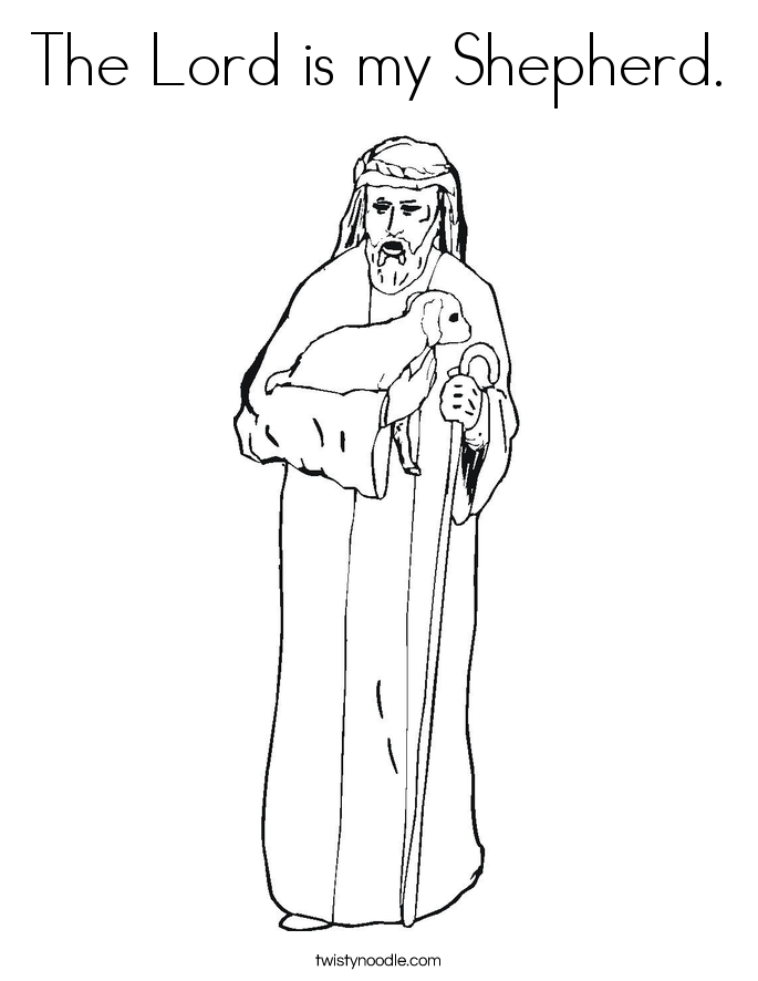 The Lord is my Shepherd. Coloring Page