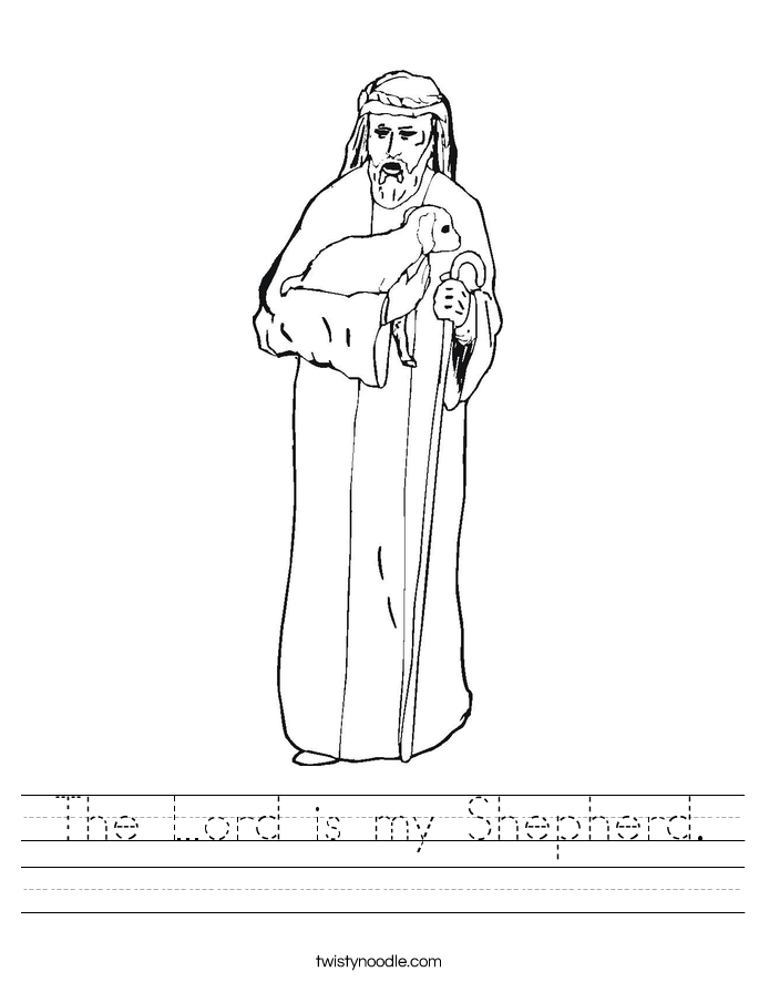 The Lord is my Shepherd. Worksheet
