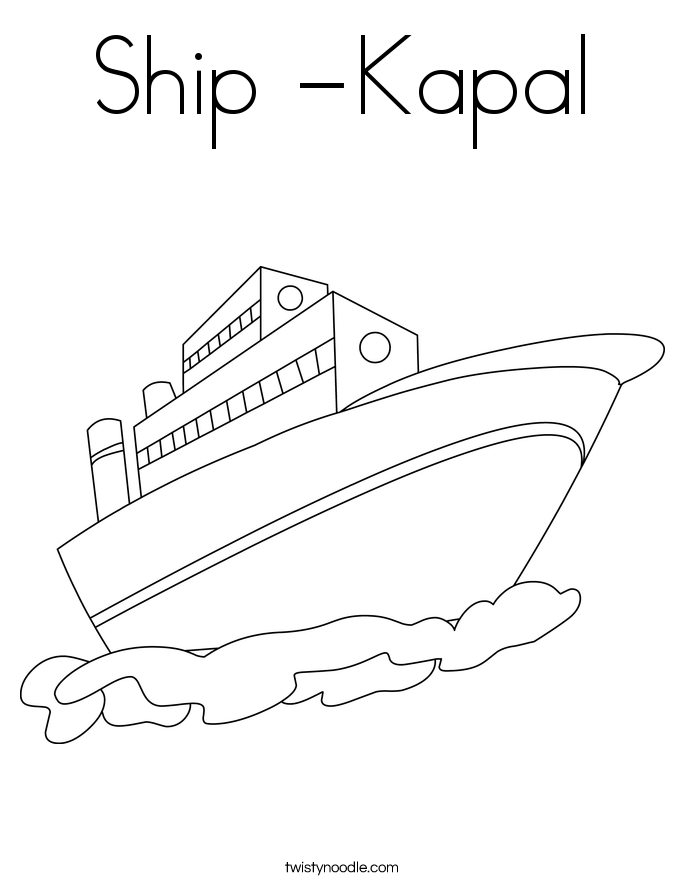 Ship -Kapal Coloring Page