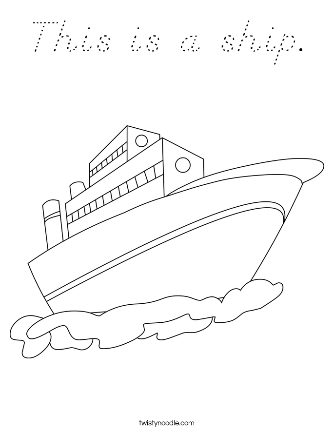 This is a ship. Coloring Page