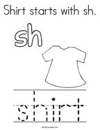 Shirt starts with sh Coloring Page