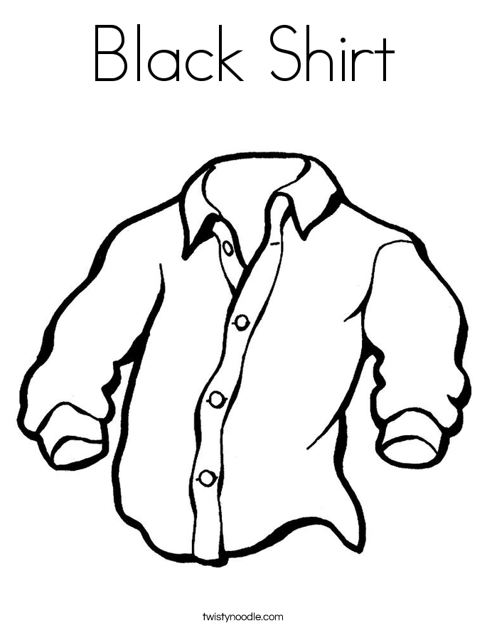 Black Shirt Coloring Page