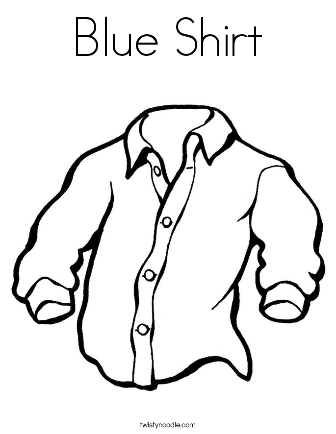 Blue Shirt Coloring Page