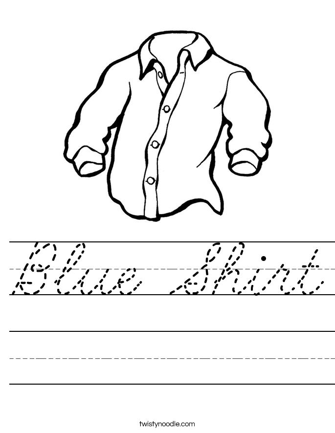 Blue Shirt Worksheet