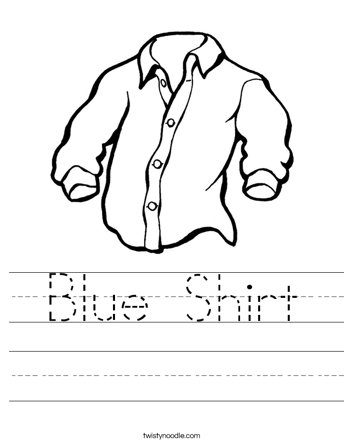 Blue Shirt Worksheet
