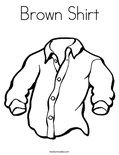 Brown Shirt Coloring Page