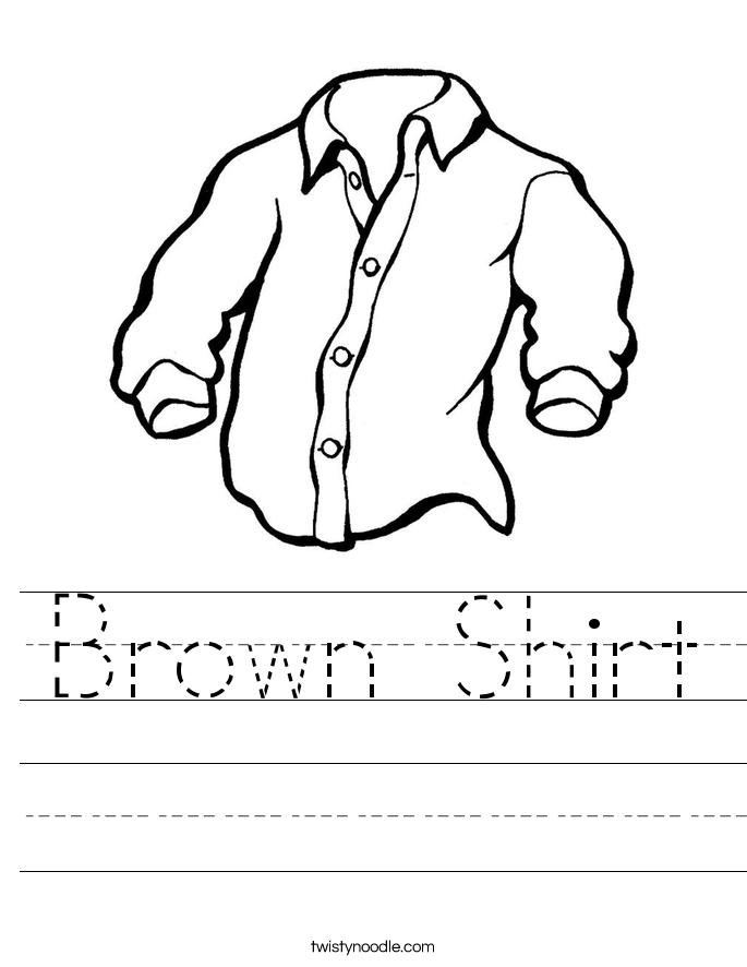 Brown Shirt Worksheet