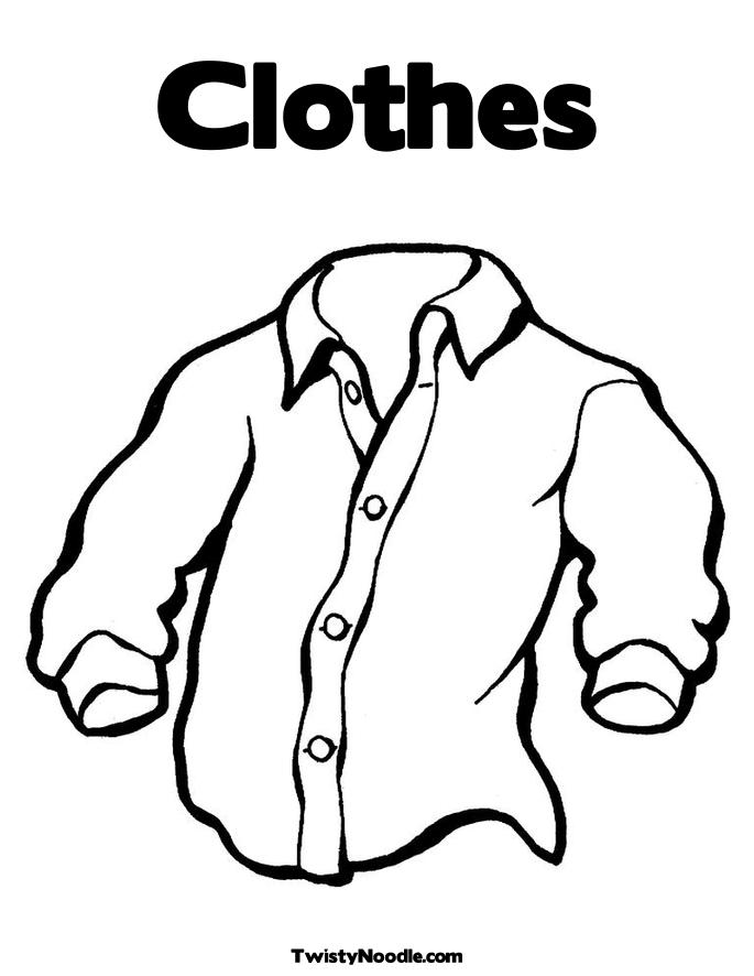 Free Coloring Pages Of Clothes And Dresses Coloring Pages Clothes