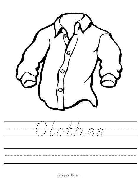 Shirt Worksheet