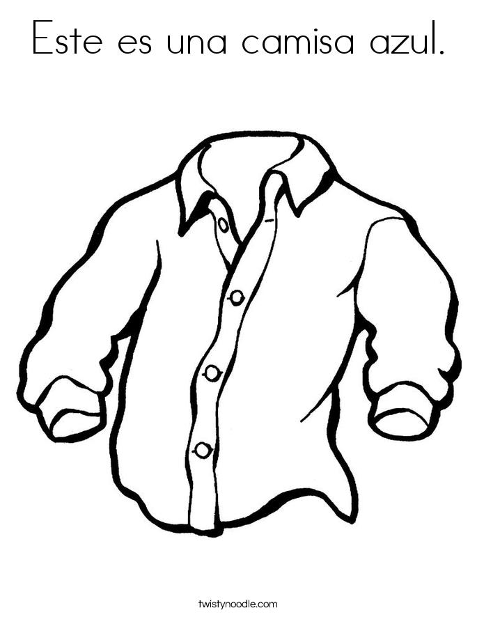 Este es una camisa azul. Coloring Page