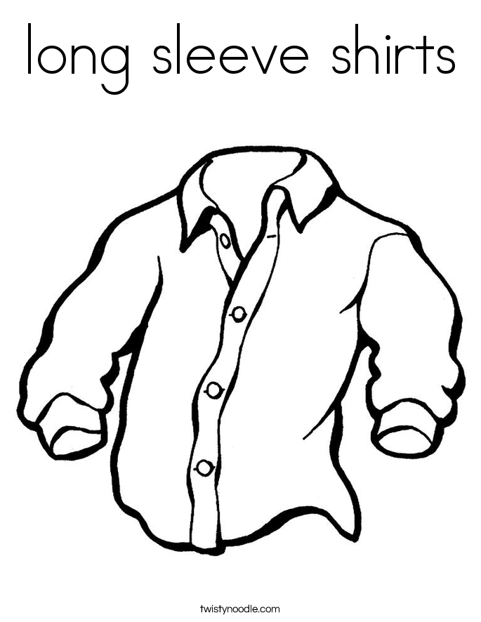 long sleeve shirts Coloring Page