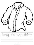 long sleeve shirts Worksheet