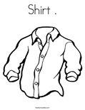 Shirt .Coloring Page