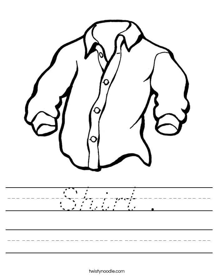 Shirt . Worksheet