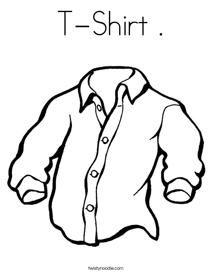 coloring pages of a shirt | T-Shirt Coloring Page - Twisty Noodle