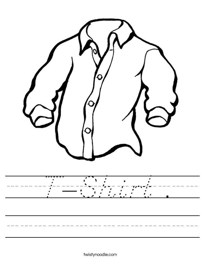T-Shirt . Worksheet