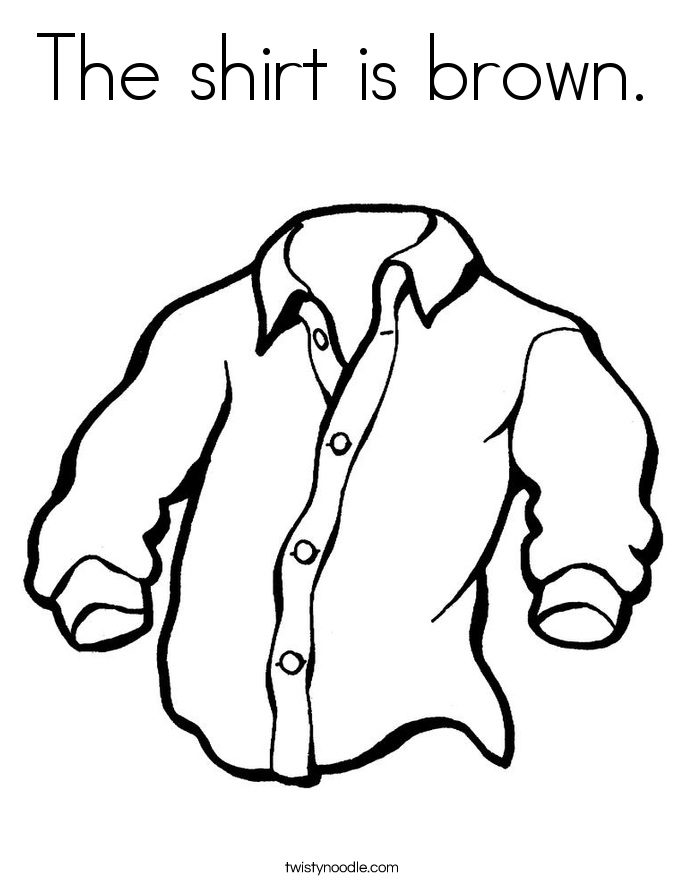 the shirt is brown coloring page