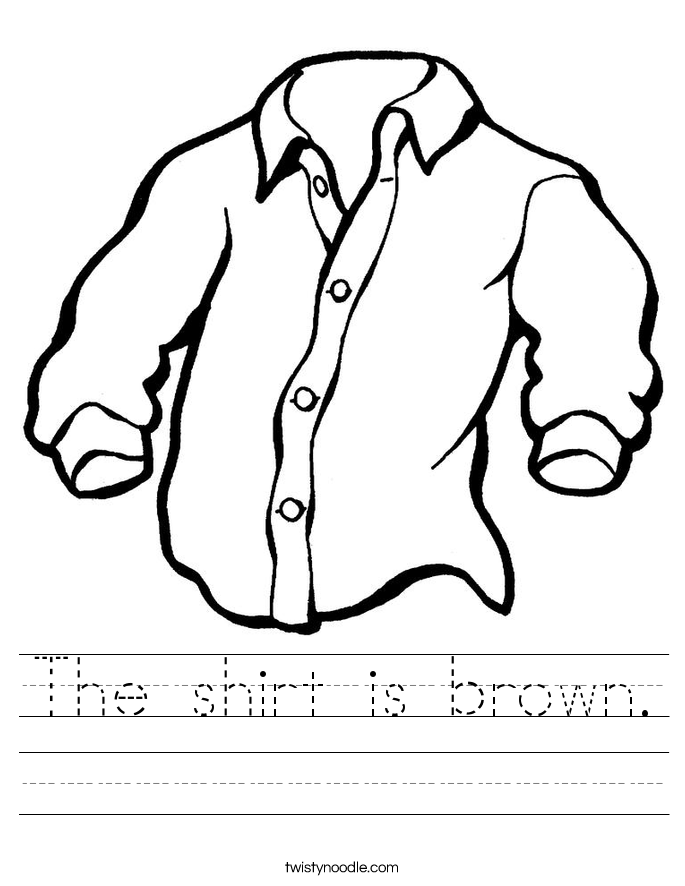 The shirt is brown. Worksheet