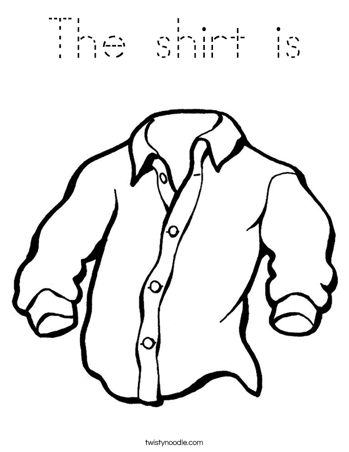 The shirt is Coloring Page