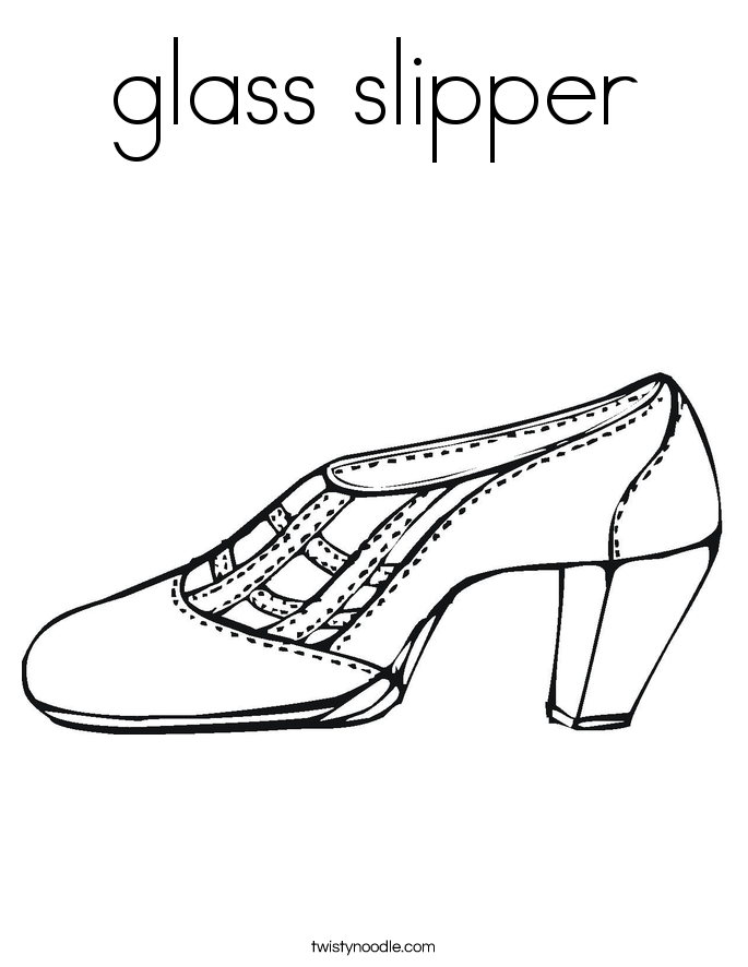 glass slipper coloring pages - photo#7