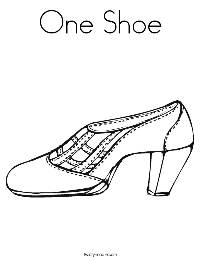 One Shoe Coloring Page.