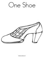One Shoe Coloring Page
