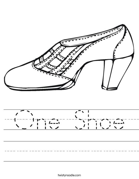 Shoe Worksheet