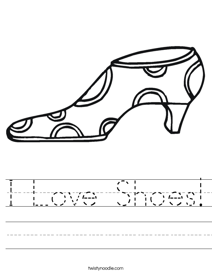 I Love Shoes! Worksheet