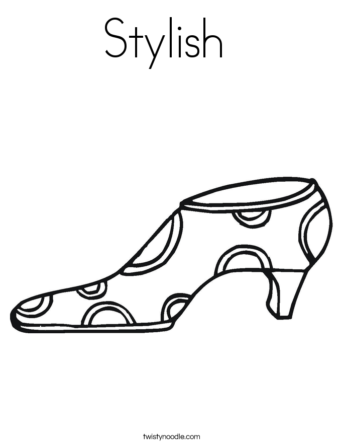 Stylish  Coloring Page