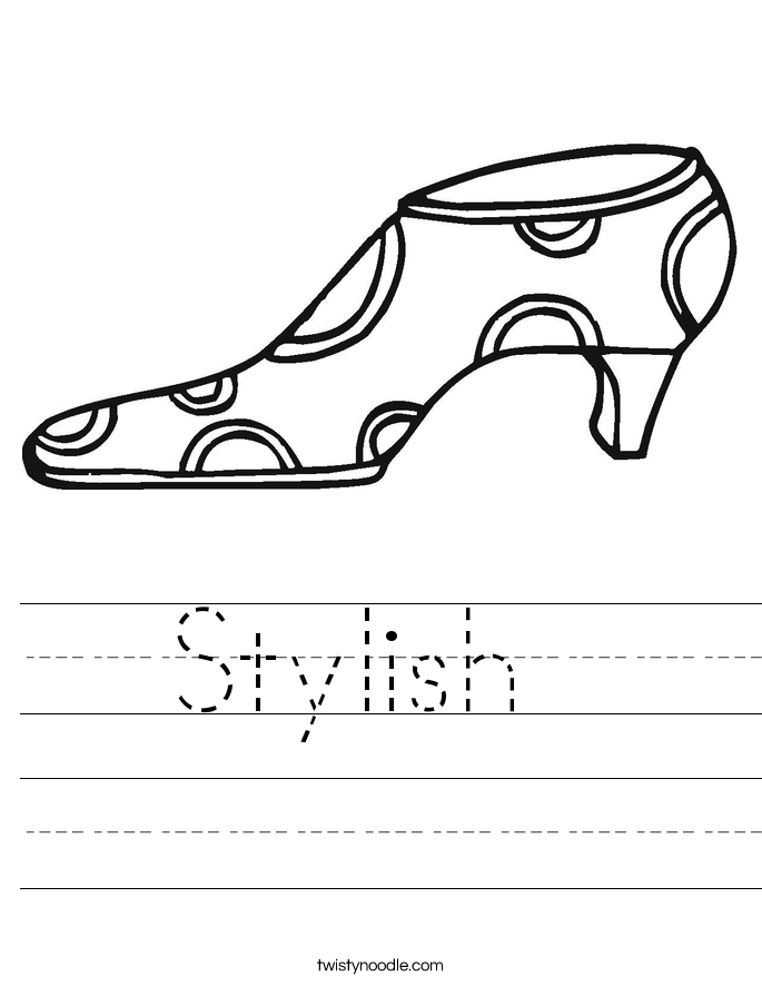 Stylish  Worksheet