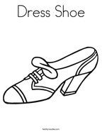 Dress Shoe Coloring Page