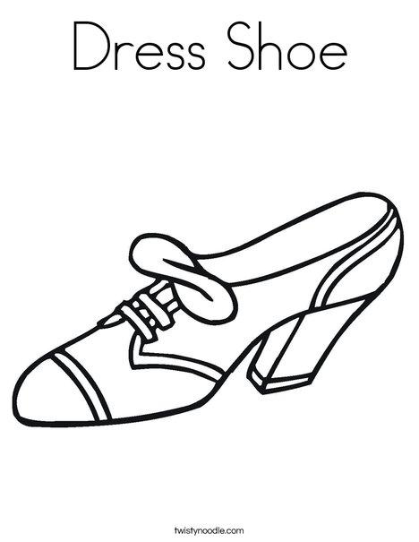 Dress Shoe Coloring Page Twisty Noodle