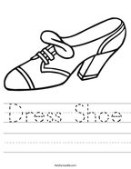 Dress Shoe Handwriting Sheet
