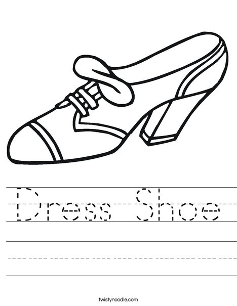 Dress Shoe Worksheet