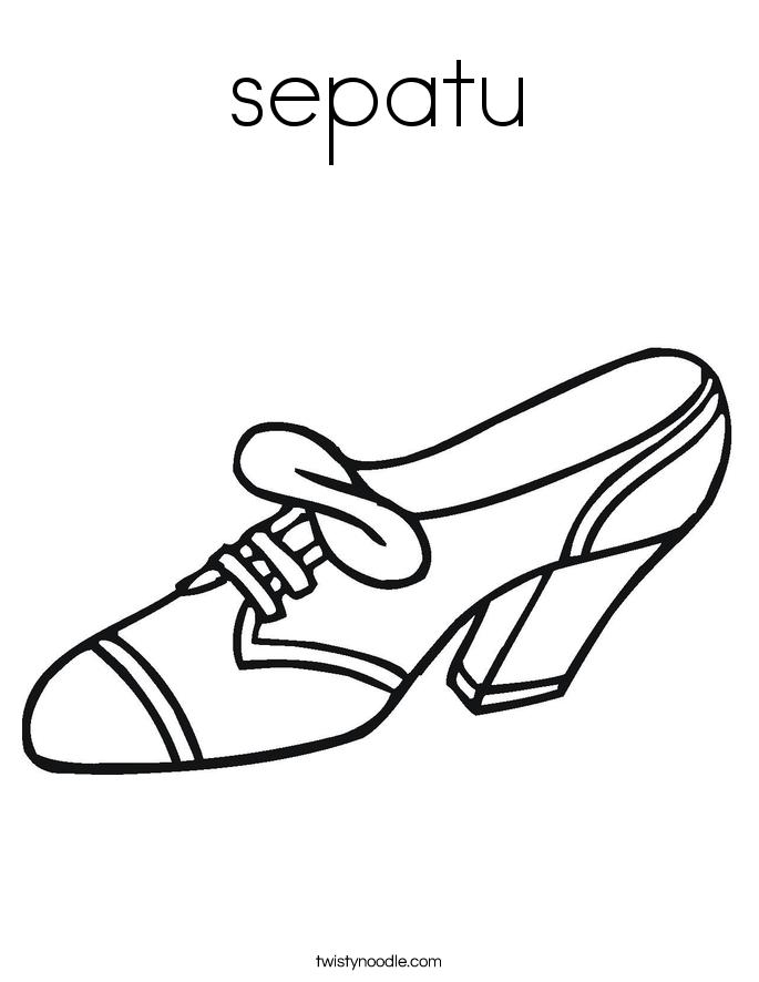 sepatu Coloring Page