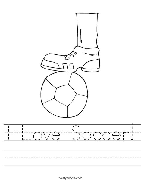 Shoe and Soccer Ball Worksheet