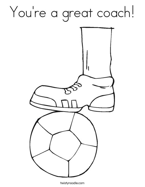 Shoe and Soccer Ball Coloring Page