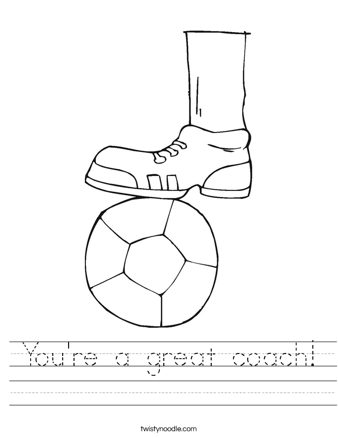 You're a great coach! Worksheet