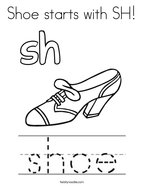Shoe starts with SH Coloring Page
