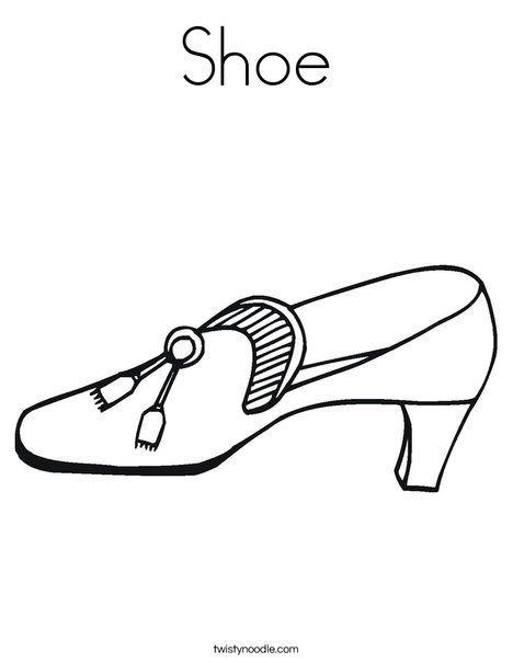 Shoe with Tassel Coloring Page