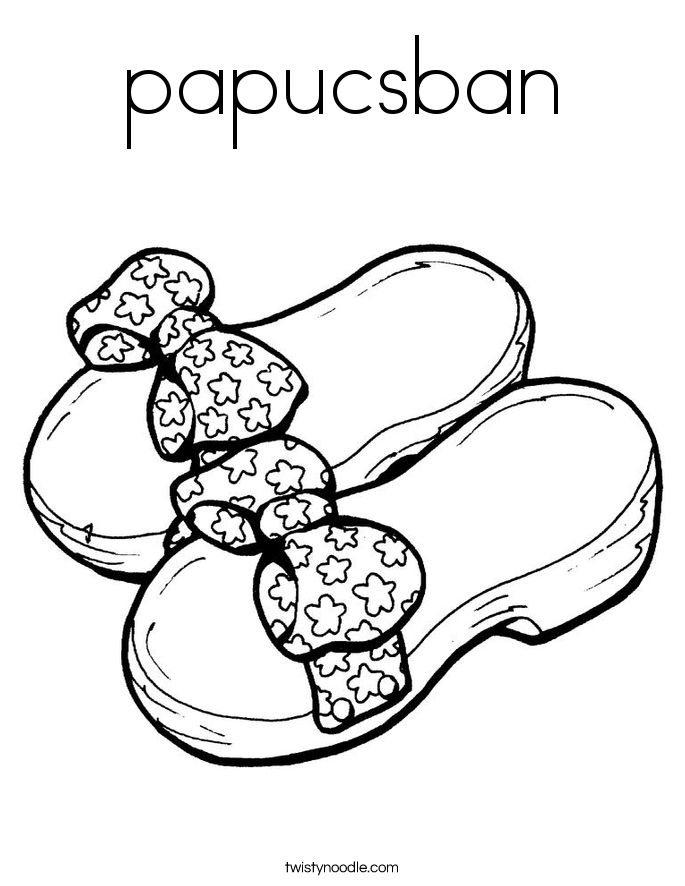 papucsban Coloring Page