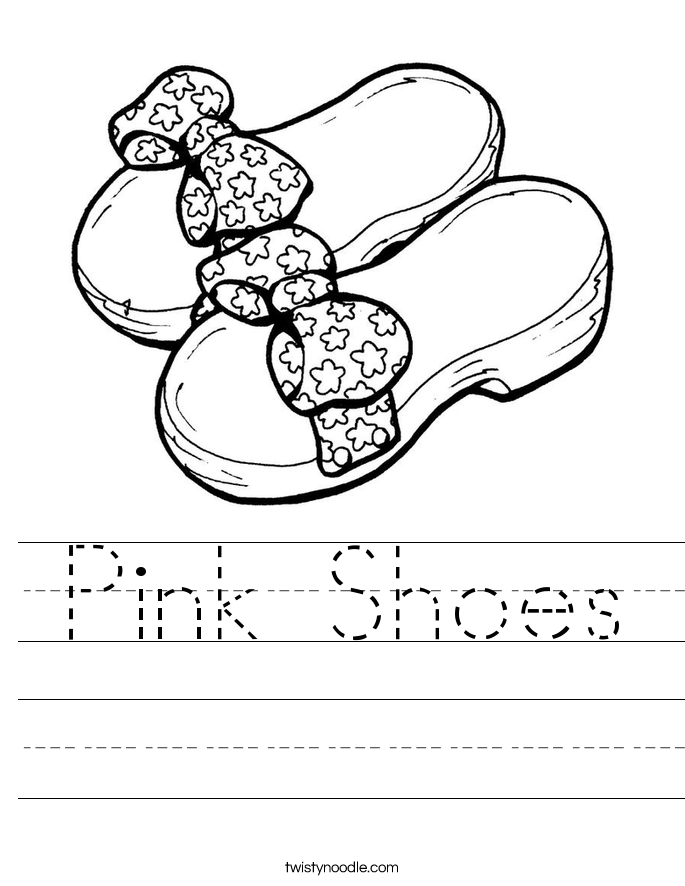 Pink Shoes Worksheet