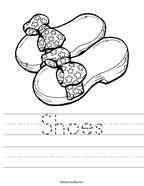 Shoes Handwriting Sheet