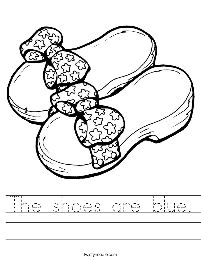 The shoes are blue. Worksheet