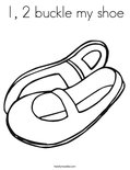 change template 1 2 buckle my shoe coloring page