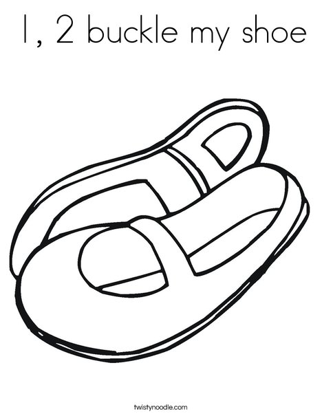 photograph relating to One Two Buckle My Shoe Printable known as 1, 2 buckle my shoe Coloring Web site - Twisty Noodle